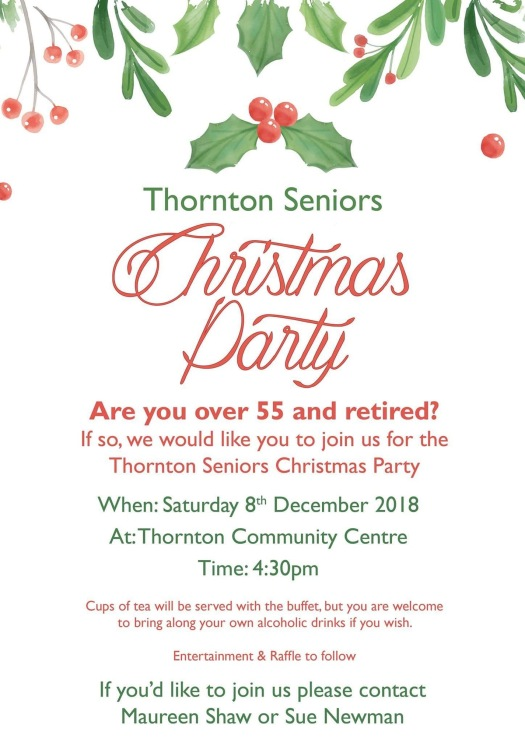 Thornton Seniors Christmas party