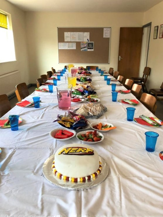 Committee Room Set up for a childrens party - March 2019